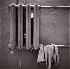 radiator + clot (chirgy) Tags: bw 3 texture 120 6x6 fuji apartment plumbing scan clot neopan analogue cloth countdown kiev radiator kyiv heating pun imperfection 400asa yashicamat cn400 wallfurniture autaut