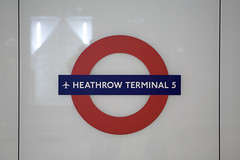 Heathrow Terminal 5 London Underground roundel by terminal5insider