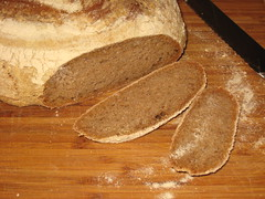 sliced whole wheat sourdough
