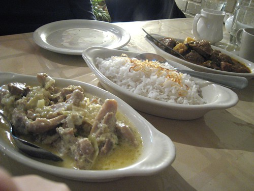Chicken kurma and lamb curry, Spicy Mina's