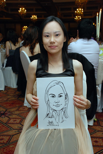 Caricature live sketching for wedding dinner10