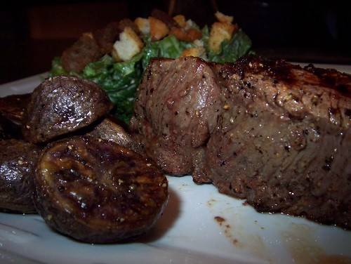 filet mignon and roasted potatoes