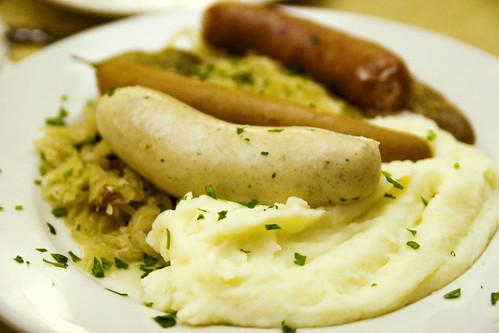 a sausage platter