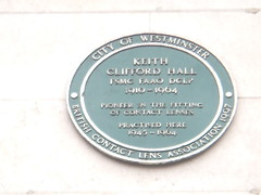 Photo of Keith Clifford Hall green plaque