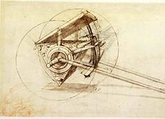 F67r-B- Codex Atlanticus- artilleria de cañones multiples-Biblioteca Ambrosiana (parte de imagen)