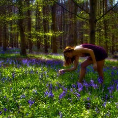Her Search For Magic Was Over (sosij) Tags: wood flowers blue trees selfportrait bluebells forest spring woods magic magical springtime bluecarpet bluebellwood 500x500 hitchwood itrodcarefully butididbringbackalittlemagic andsomenewadditionstomyhitchwoodset ididntpickany anddirtygrubbyfeetsies