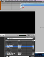 Drag the sound clip from iMovie to Garageband