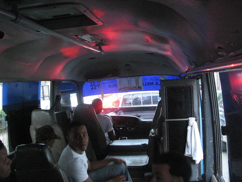 Inside the dominican bus.
