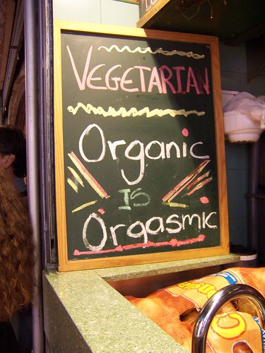 Organic's cafe in La Boqueria