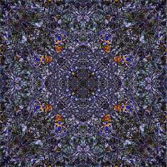 Blue Wildflower Kaleidoscope (hz536n/George Thomas) Tags: blue summer abstract flower oklahoma flora kaleidoscope 2008 cs3 canon30d canonef70200mmf4lusm kaleidoxcope