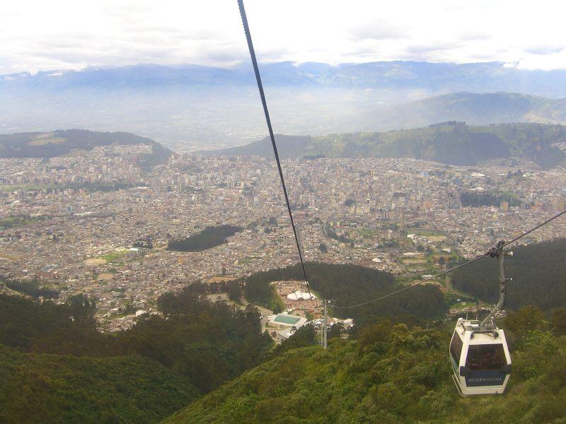 Quito vanuit de Telefériqo