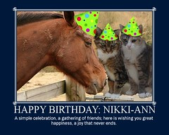 Happy Birthday to our contact: Nikki-ann