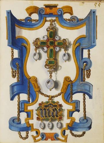 Colgantes en forma de cruz y con el monograma de Maria 55 r