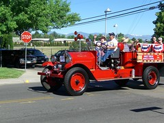 Littleton, CO - Fire Muster and Parade (Vladimir-911) Tags: rescue usa truck fire high colorado parade demonstration co vehicle emergency department muster appliance mile services apparatus hookladder spaamfaa deptfd