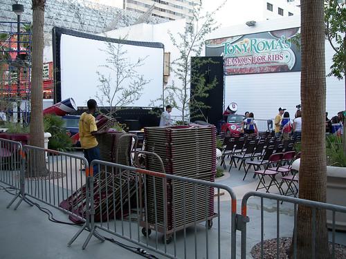 Cinevegas Them! screening setup