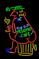 Vesuvio Neon (Thomas Hawk) Tags: sanfrancisco california usa bar neon unitedstates unitedstatesofamerica northbeach vesuvio northbeachdistrict photowalking7 vesuvioneon
