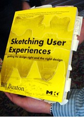 My dog-eared copy of Sketching User Experiences featured on Bill Buxton\'s site