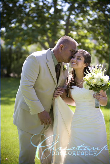ChristanP Photography - Father Kissing Bride