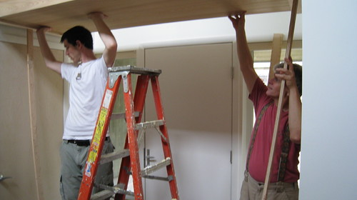 Entryway soffit: propping it up