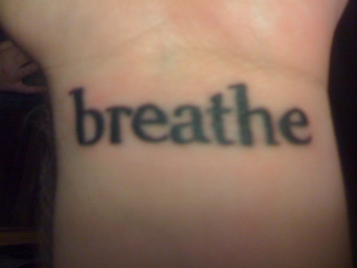 new wrist tattoo – the font is Gilgamesh Book, the same font that Pema
