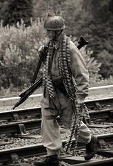 Walking To WAR (Andy Darby) Tags: station army war shropshire battle german ww2 reen svr luftwaffe severnvalleyrailway paratrooper bridgnorth ww11 highley