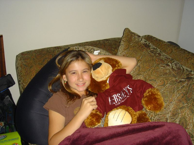 Collette and Hershey Bear