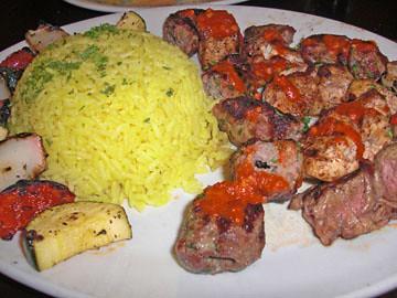 Jerusalem Kebab Platter