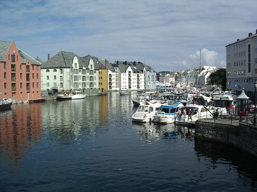 alesund harbour,norway