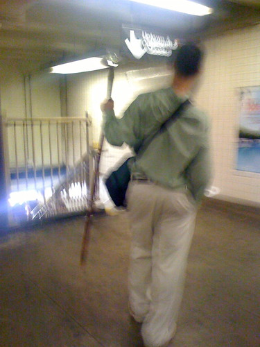 Second Avenue Subway Scepter Man