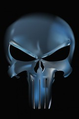 iphone wallpaper with design Metal Skull