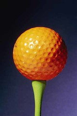 Orange golf ball
