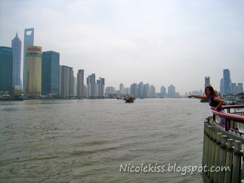 huangpu river looking into pudong