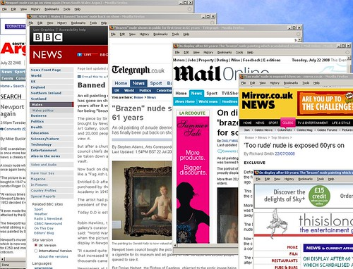 THE ART OF THE NUDE | Sensationalist coverage in the daily press | 22 July 2008