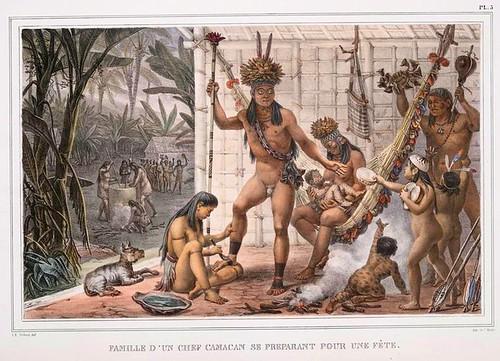 01-Familia de un jefe Camacan preparandose para una fiesta
