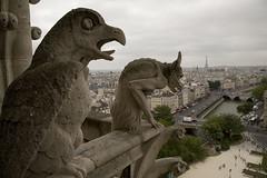 Notre Dame Gargoyles (Roman the Russian) Tags: paris france canon eiffel notredame gargoyle 5d gargoyles notre dame 24105l