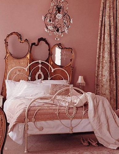 pink design bedroom interior room decor shabbychic