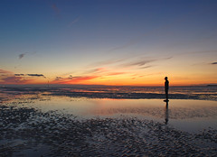 Hello, anyone there - Hello (Mr Grimesdale) Tags: sunset reflection beach statue liverpool olympus mersey gormley crosby antonygormley merseyside burbo e510 anotherplace rivermersey crosbybeach gapc mrgrimsdale stevewallace gormleystatue europeancapitalofculture2008 photofaceoffwinner pfogold mrgrimesdale