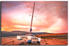 Barmouth (Muzammil (Moz)) Tags: uk morning sunrise landscape manchester photography boat moz northwales mozzy redclouds conon400d afraaz muzammilhussain barmouthmarina