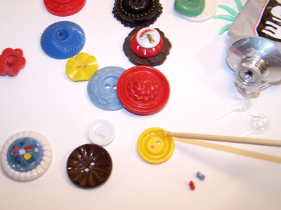 Glueing Buttons