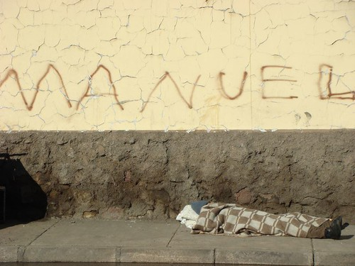 Homeless in Santiago.