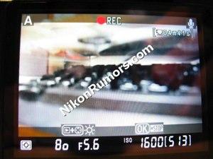 Nikon D90 in video record mode?
