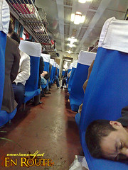 Train Sleeper at the Hard Seat Section