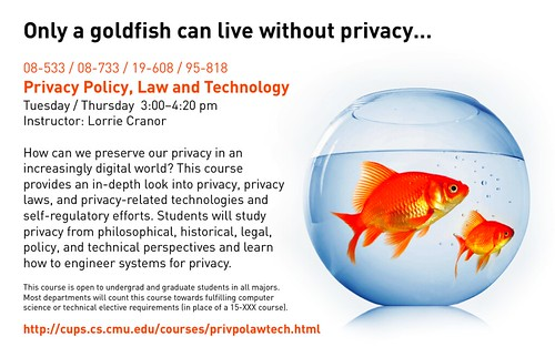 Only A Goldfish Can Live Without Privacy?