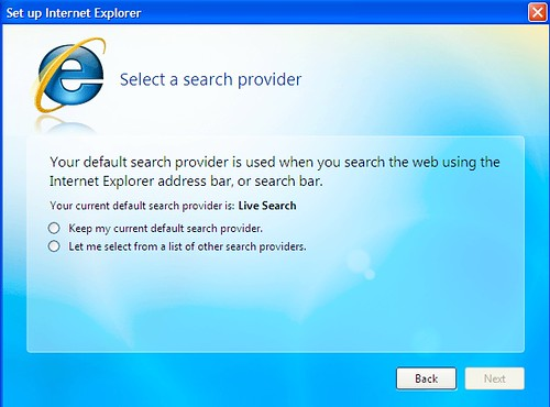 Select Search Provider