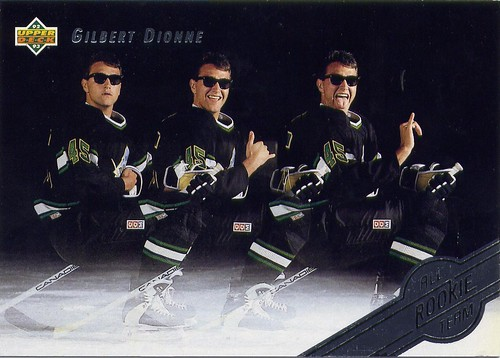 Gilbert Dionne, Montreal Canadiens, 92-93 Upper Deck All-Rookie Team, hockey, hockey cards, douche