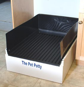 Dog potty training grass pad mulch