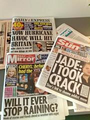 Sensational headlines (shrinkwrapped) Tags: newspaper headlines tabloids scaremongering sensationalism