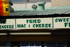 Fried Mac & Cheese (Joe Shlabotnik) Tags: newyork sign statefair fried 2008 macaroniandcheese faved august2008