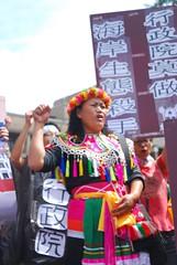 刺桐部落的富山社區發展協會理事長林金蒂