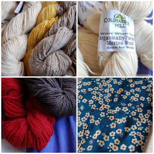 yarn from iknit (and fabric from liberty)